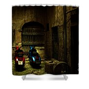 Time Travellers Shower Curtain by Andrew Paranavitana