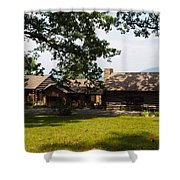 Tom's Cabin In Newport Shower Curtain by Robert Margetts