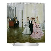 Too Early Shower Curtain by James Jacques Joseph Tissot