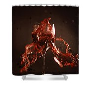 Too Much Wine Shower Curtain by Skip Willits