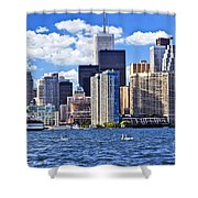 Toronto Waterfront Shower Curtain by Elena Elisseeva