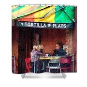 Tortilla Flats Greenwich Village Shower Curtain by Susan Savad
