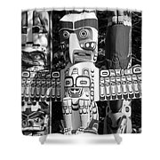 Totems Shower Curtain by Chris Dutton
