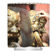 Touch Of Good Fortune Shower Curtain by Carol Groenen