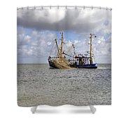 trawler - Sylt Shower Curtain by Joana Kruse