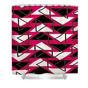 Triangles Shower Curtain by Louisa Knight