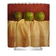 Trois Pommes Shower Curtain by Priska Wettstein