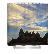 Trona Pinnacles Windswept Shower Curtain by Bob Christopher