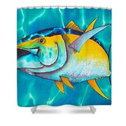 Tuna Shower Curtain by Daniel Jean-Baptiste