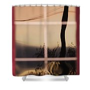 Turn Left At Dawn Shower Curtain by Susan Capuano