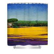 Tuscan Landcape Shower Curtain by Trevor Neal