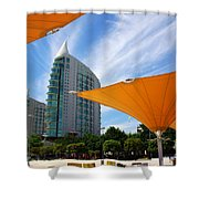 Twin Towers Shower Curtain by Carlos Caetano