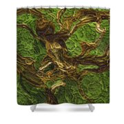 Twisted Shower Curtain by Jack Zulli