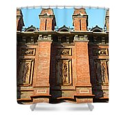 UC Berkeley . South Hall . Oldest Building At UC Berkeley . Built 1873 . 7D10109 Shower Curtain by Wingsdomain Art and Photography
