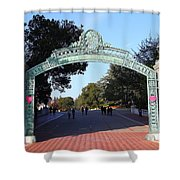 Uc Berkeley . Sproul Plaza . Sather Gate . 7d10033 Shower Curtain by Wingsdomain Art and Photography