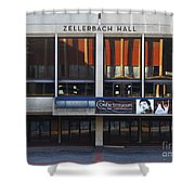 UC Berkeley . Zellerbach Hall . 7D9989 Shower Curtain by Wingsdomain Art and Photography