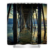 Under The Boardwalk Shower Curtain by Chris Lord
