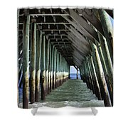 Under The Pier Shower Curtain by Teresa Mucha