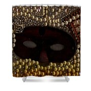 Unmask You Masquerades Dont Last Forever Shower Curtain by Pepita Selles