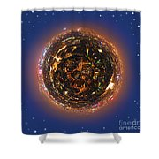 Urban Planet Shower Curtain by Elena Elisseeva