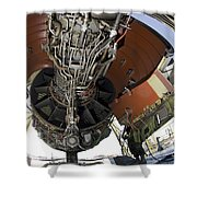 U.s. Air Force Technician Hydraulically Shower Curtain by Stocktrek Images