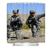U.s. Army Soldiers Familiarize Shower Curtain by Stocktrek Images