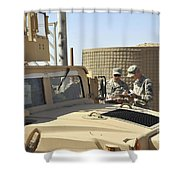 U.s. Army Soldiers Take Accountability Shower Curtain by Stocktrek Images