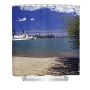 U.s. Coast Guard Cutter Jarvis Transits Shower Curtain by Michael Wood