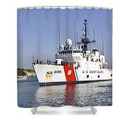 U.s. Coast Guard Cutter Uscgc Seneca Shower Curtain by Stocktrek Images