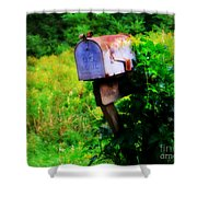 U.s. Mail 2 Shower Curtain by Perry Webster