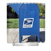US Mail Box . 5D18813 Shower Curtain by Wingsdomain Art and Photography