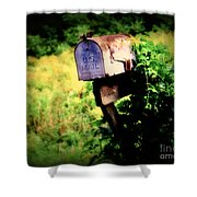 U.s. Mail Shower Curtain by Perry Webster