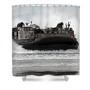 U.s. Navy Landing Craft Air Cushion Shower Curtain by Stocktrek Images
