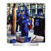 Van Gogh Is Captivated By A San Francisco Street Performer . 7d7246 Shower Curtain by Wingsdomain Art and Photography
