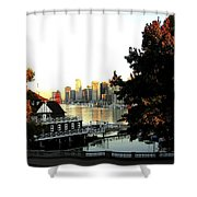 Vancouver At Sundown Shower Curtain by Will Borden