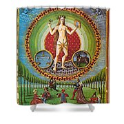 Venus Ruler Of Taurus And Libra Shower Curtain by Photo Researchers