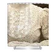Victorian Dress Shower Curtain by Joana Kruse