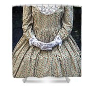 victorian lady Shower Curtain by Joana Kruse