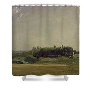 View Towards The Rectory - East Bergholt Shower Curtain by John Constable