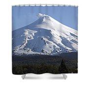 Villarrica, Steaming Crater, Araucania Shower Curtain by Martin Rietze