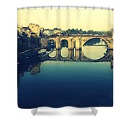 Villeneuve Sur Lot's River Shower Curtain by Georgia Fowler