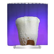 Vinegar & Baking Soda Experiment, 3 Or 3 Shower Curtain by Photo Researchers, Inc.