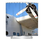 Vintage Boac British Overseas Airways Corporation Speedbird Flying Boat . 7d11279 Shower Curtain by Wingsdomain Art and Photography