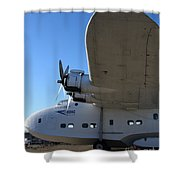 Vintage Boac British Overseas Airways Corporation Speedbird Flying Boat . 7d11290 Shower Curtain by Wingsdomain Art and Photography