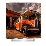 Vintage Bus  Shower Curtain by Rob Hawkins
