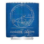 Vintage Monocycle Patent Artwork 1894 Shower Curtain by Nikki Marie Smith