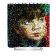Violet 6 Shower Curtain by Paul Van Scott