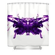 Violet Abstract Butterfly Shower Curtain by Sumit Mehndiratta