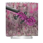 Violinelle - Pink 03b2 Shower Curtain by Variance Collections