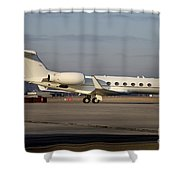Vip Jet C-37a Of Supreme Headquarters Shower Curtain by Timm Ziegenthaler